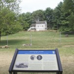 CWT Trail Marker in front of the house